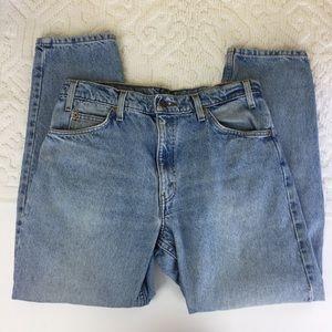 Levi's 550 Orange Tab tapered mom jeans 34x30   P4